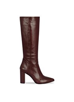 Vario Vario Deri 9 cm Topuklu Kadın Çizme